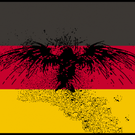 German Flag – Distressed Eagle