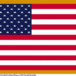 American – Gold Border